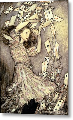 Adventures In Wonderland Metal Print by Arthur Rackham