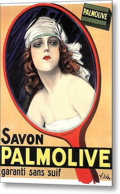 Advertisement For Palmolive Soap Metal Print by Emilio Vila