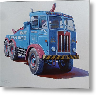 Metal Print featuring the painting Aec Militant Lloyds by Mike Jeffries