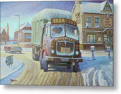 Aec Tinfront In The Snow. Metal Print