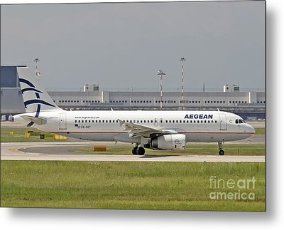 Metal Print featuring the photograph Aegean Airbus A320 Sx-dvt  by Amos Dor