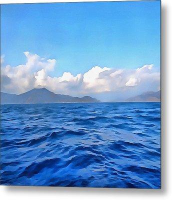 Aegean Blue Metal Print by Tracey Harrington-Simpson