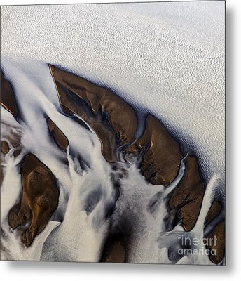 Aerial Photo Thjosa Iceland Metal Print