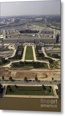 Aerial Photograph Of The Pentagon Metal Print by Stocktrek Images