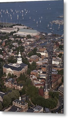 Aerial View Of Annapolis. The Metal Print