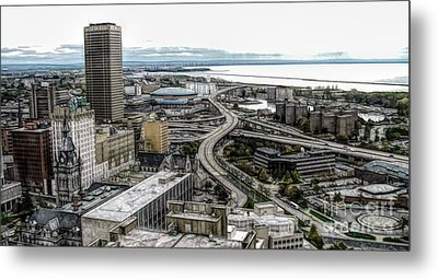 Aerial View Of Buffalo New York 2 Fwc Effect Metal Print