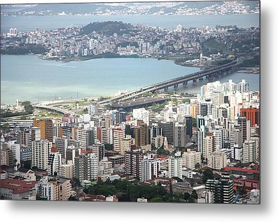 Aerial View Of Florianópolis Metal Print by DircinhaSW