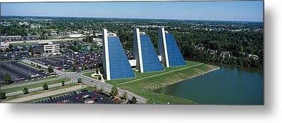 Aerial View Of Office Buildings Metal Print
