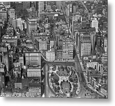 Aerial View Of Union Square Metal Print by Underwood Archives