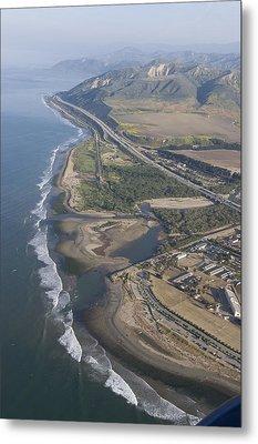 Aerial View Of Ventura Point, Ventura Metal Print by Rich Reid
