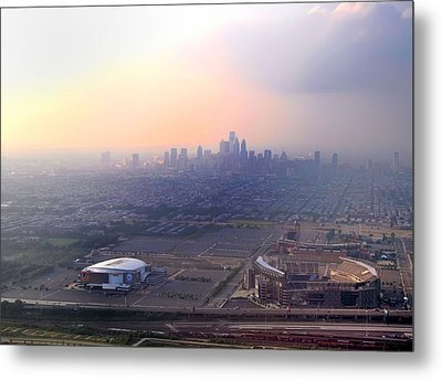 Aerial View - Philadelphia's Stadiums With Cityscape  Metal Print by Bill Cannon