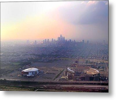 Aerial View - Philadelphia's Stadiums With Cityscape  Metal Print