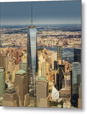 Aerial World Trade Center Wtc Metal Print by Susan Candelario