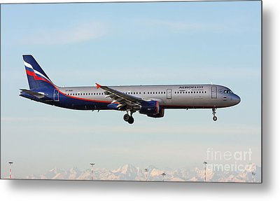 Aeroflot - Russian Airlines Airbus A321-211 Metal Print by Amos Dor
