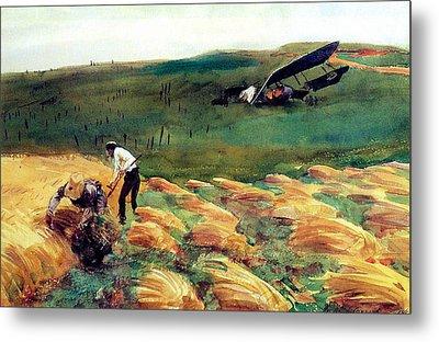 Aeroplane - Crashed Metal Print by John Singer Sargent