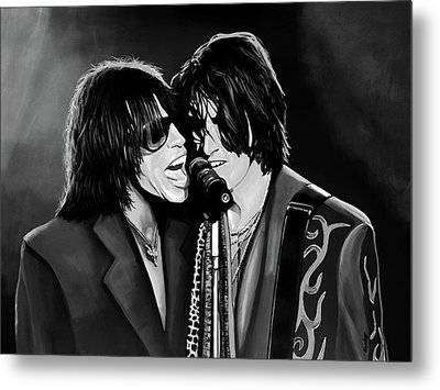 Aerosmith Toxic Twins Mixed Media Metal Print by Paul Meijering