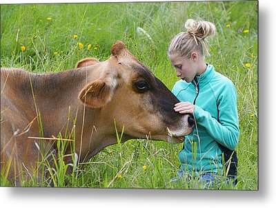 Affection And Fondness - A Candid Portrait Metal Print by Marty Saccone