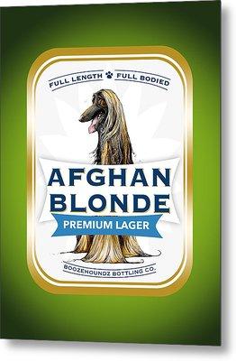 Afghan Blonde Premium Lager Metal Print