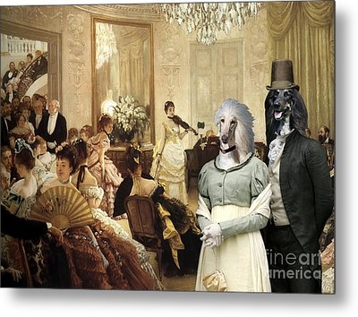 Afghan Hound-the Concert  Canvas Fine Art Print Metal Print