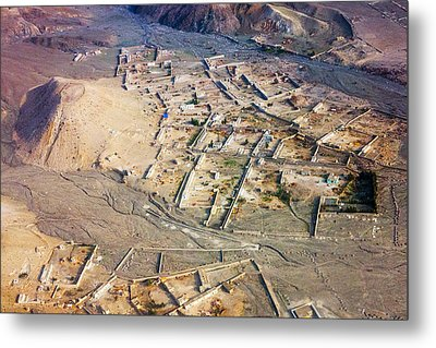 Afghan River Village Metal Print
