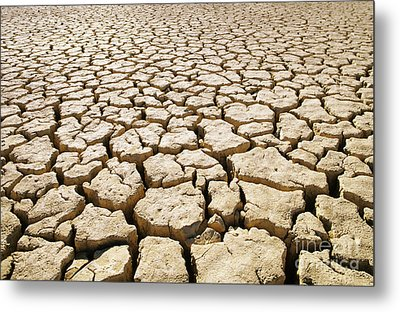 Africa Cracked Mud Metal Print by Larry Dale Gordon - Printscapes