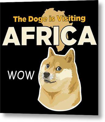Africa Doge Metal Print by Michael Jordan