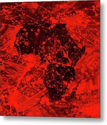 African Splatter Metal Print