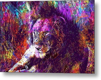 Metal Print featuring the digital art Africa Safari Tanzania Bush Mammal  by PixBreak Art