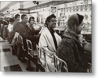 African Americans Sit In Protest Metal Print by Everett