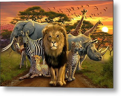 African Beasts Metal Print by Andrew Farley