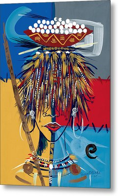 African Beauty 2 Metal Print by Oglafa Ebitari Perrin