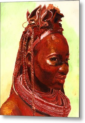 African Beauty Metal Print by Enzie Shahmiri