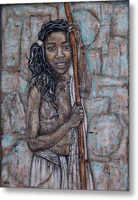 African Beauty I Metal Print by Rain Ririn