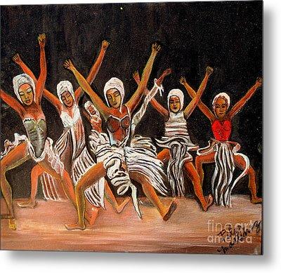 African Dancers Metal Print by Pilar  Martinez-Byrne