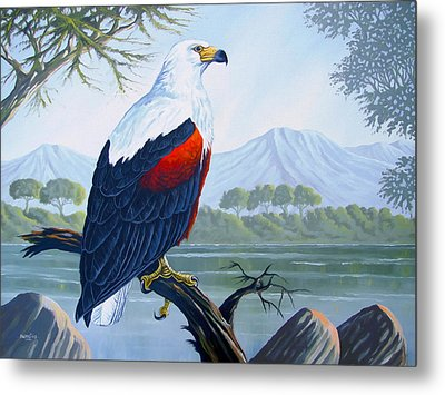 Metal Print featuring the painting African Fish Eagle by Anthony Mwangi