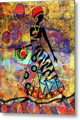 African Healer New Color Metal Print by Connie Valasco