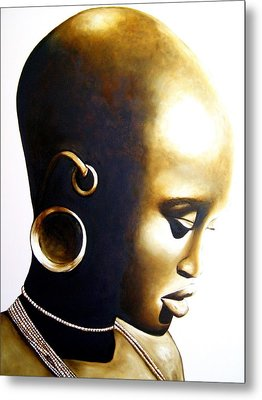 African Lady - Original Artwork Metal Print