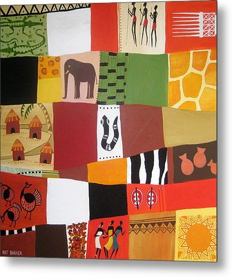 African Matrix Metal Print by Pat Barker
