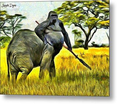African Minotaur Metal Print by Leonardo Digenio