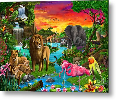 African Paradise Metal Print by Gerald Newton