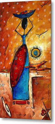 African Queen Original Madart Painting Metal Print