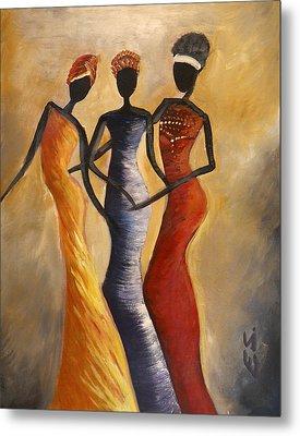 African Queens Metal Print by Evon Du Toit