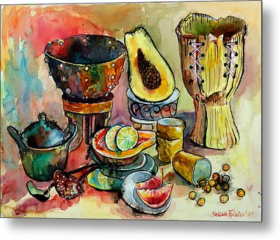 African Still Life Metal Print by Yelena Tylkina