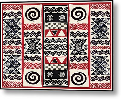 African Tribal Ritual Design Metal Print