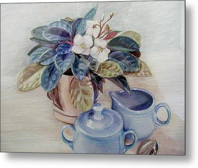 African Violet Still Life Metal Print by Martha Ayotte