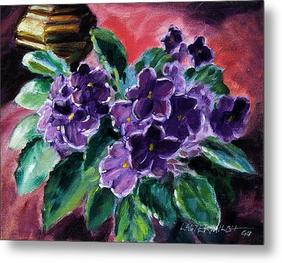 African Violets Metal Print by John Lautermilch