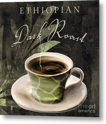 Afrikan Coffees Iv Metal Print by Mindy Sommers
