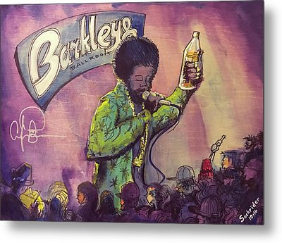 Metal Print featuring the painting Afroman At Barkleys by David Sockrider