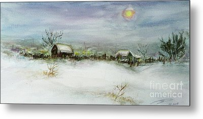After A Heavy Fall Of Snow Metal Print by Xueling Zou