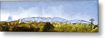 Metal Print featuring the painting After An Early Spring Storm by Larry Darnell